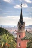 Il museo di Gaudi in Parque Guell a Barcellona, Spagna Immagine Stock Libera da Diritti