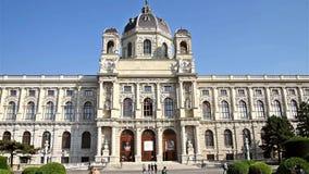 Il museo di Kunsthistorisches (museo di Art History Or Museum delle belle arti) video d archivio