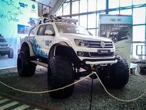 Il museo di retro automobili nella regione di Mosca di Russia Immagini Stock