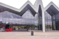 Il museo Glasgow, Scozia della riva del fiume Il museo ha mostre precedentemente nel museo del trasporto Fotografia Stock Libera da Diritti