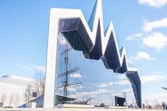 Il museo Glasgow, Scozia della riva del fiume Il museo ha mostre precedentemente nel museo del trasporto Fotografie Stock