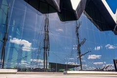 Il museo Glasgow, Scozia della riva del fiume Il museo ha mostre precedentemente nel museo del trasporto Fotografia Stock