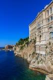 Il museo oceanografico nel Monaco-Ville, Monaco, Cote d'Azur Fotografia Stock Libera da Diritti