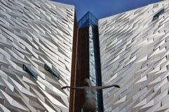 Il museo titanico di esperienza a Belfast, Irlanda del Nord fotografia stock