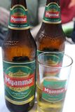 Il Myanmar Lager Beer immagine stock libera da diritti