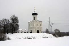 Il Na Nerli di Pokrova della chiesa Fotografie Stock