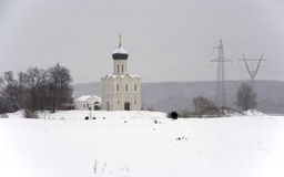 Il Na Nerli di Pokrova della chiesa Fotografia Stock