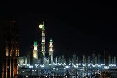 Il an-Nabawi di Al-Masjid in Medina inoltre ha chiamato Prophet Muhammad Mosque Roza-e-Rasool PBUH, Arabia Saudita fotografia stock