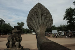 Il naga del serpente a Angkor Wat Immagini Stock