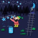 Il nano lava le stelle Fotografia Stock Libera da Diritti
