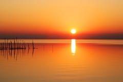 Il naranga di giorno nel lago Fotografia Stock