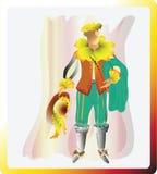 Il narciso soleggiato Moschettiere narcistico Illustrazione di vettore Fotografia Stock Libera da Diritti