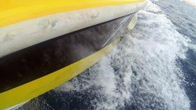 Il naso dell'yacht archivi video
