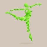 Il nastro astratto ha modellato con il ballo di aerobica per dimagrire. Immagine Stock Libera da Diritti
