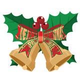 Il nastro del testo sul Natale si avvolge illustrazione vettoriale
