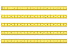 Il nastro di misurazione per le roulette dello strumento vector l'illustrazione l'ENV 10 Fotografie Stock Libere da Diritti