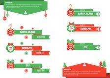 Il Natale abbassa i terzi Fotografie Stock