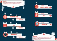 Il Natale abbassa i terzi Fotografie Stock Libere da Diritti