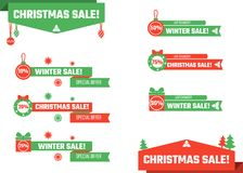 Il Natale abbassa i terzi Fotografia Stock Libera da Diritti