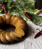 Il Natale agglutina da farina di segale con miele e le spezie Fotografie Stock