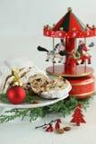 Il Natale agglutina - di Music Box di Stollen, della bagattella e del carosello Immagini Stock Libere da Diritti