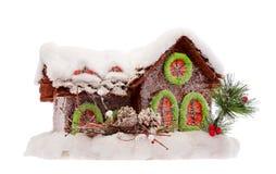 Il Natale alloggia coperto da neve Fotografie Stock Libere da Diritti