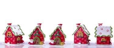 Il Natale alloggia decorato con Santa Fotografie Stock