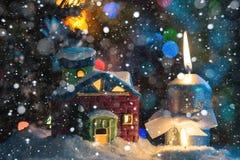 Il Natale alloggia ed esamina in controluce Fotografie Stock Libere da Diritti