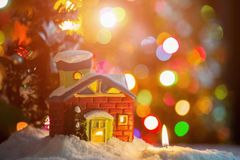 Il Natale alloggia ed esamina in controluce Fotografia Stock