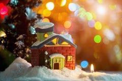 Il Natale alloggia ed esamina in controluce Fotografie Stock