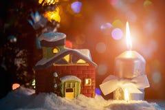 Il Natale alloggia ed esamina in controluce Immagine Stock Libera da Diritti