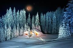 Il Natale alloggia nei Carpathians Immagine Stock Libera da Diritti