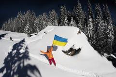 Il Natale alloggia nei Carpathians Fotografia Stock