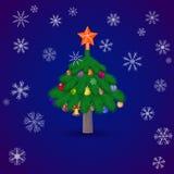 Il Natale attilla l'albero Immagine Stock