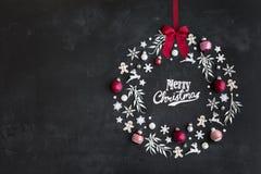 Il Natale avvolge la disposizione piana fotografie stock