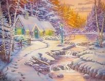Il Natale che everning Fotografia Stock
