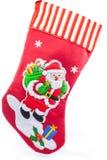 Il Natale colpisce con forza con Santa Claus Immagini Stock Libere da Diritti