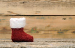 Il Natale colpisce con forza su legno Fotografia Stock Libera da Diritti