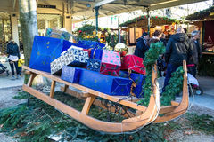 Il Natale commercializza in Baden-Baden, Germania Immagini Stock