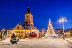 Il Natale commercializza, Brasov, Romania Fotografia Stock Libera da Diritti