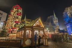 Il Natale commercializza a Braunschweig Immagini Stock