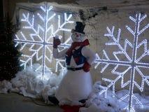 Il Natale commercializza in caverna della città Fotografia Stock