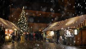 Il Natale commercializza a Francoforte, Germania archivi video