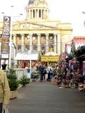 Il Natale commercializza, Nottingham. fotografia stock