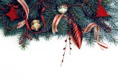 Il Natale confina isolato su bianco Immagine Stock