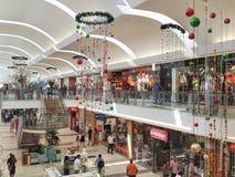 Il Natale cronometra al centro commerciale Fotografia Stock Libera da Diritti