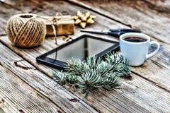 Il Natale del nuovo anno, crea i regali Pc del ridurre in pani Immagine Stock