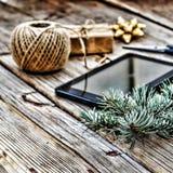 Il Natale del nuovo anno, crea i regali Pc del ridurre in pani Immagini Stock