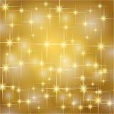 Il natale dell'oro stars il fondo Fotografia Stock