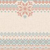 Il natale di Natale dell'inverno tricotta il modello tricottato fondo Progettazione piana di stile royalty illustrazione gratis